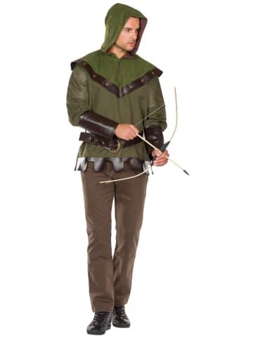 """Rubie`s 2-delig kostuum """"Bosjager"""" groen/bruin"""