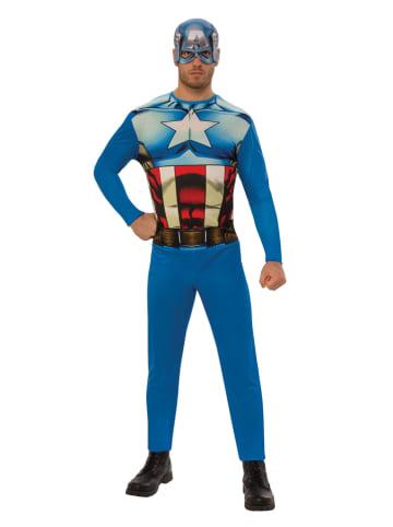 """Rubie`s Kombinezon """"Captain America"""" w kolorze niebieskim"""