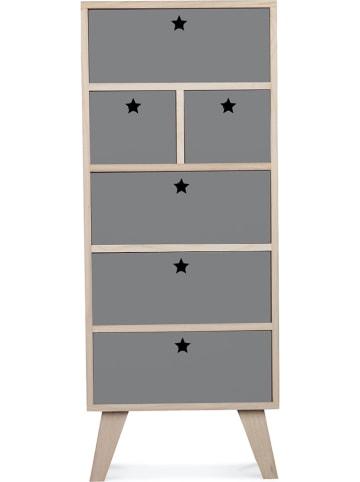 """Deco Lorrie Ladekast """"Etoile"""" grijs - (B)40 x (H)99 x (D)25 cm"""