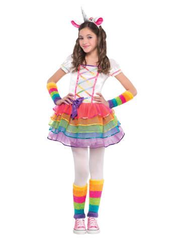 "Amscan 4-delig kostuum ""Rainbow Unicorn"" meerkleurig"
