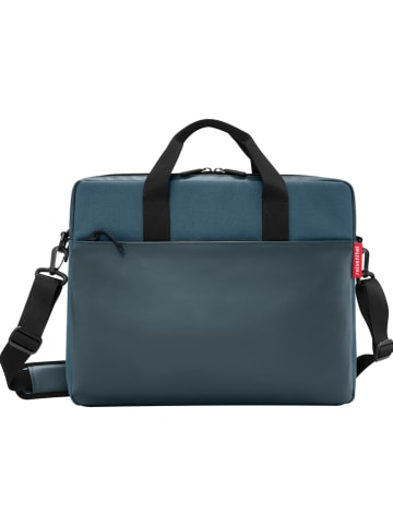 "Reisenthel Laptoptas ""Canvas"" blauwgroen - (B)42,5 x (H)33 x (D)12 cm"