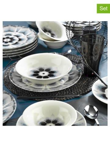 Hermia 24-delig combiservies wit/zwart/grijs