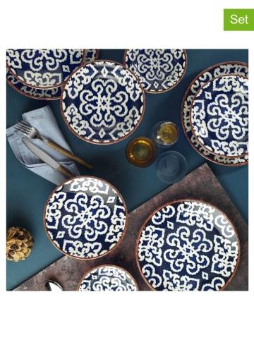 Hermia 24-delig combiservies donkerblauw