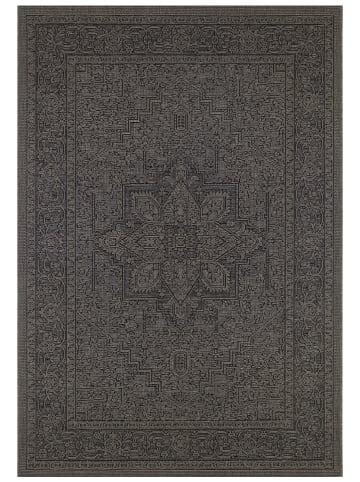 "Bougari Indoor-/outdoortapijt ""Anjara"" zwart/grijs"