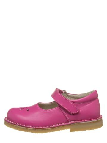 Kmins Leder-Spangenballerinas in Pink