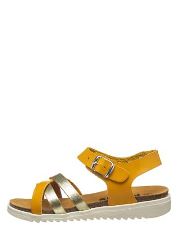 Kmins Sandały w kolorze pomarańczowo-złotym