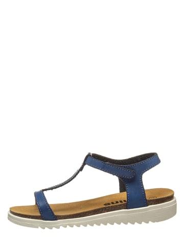Kmins Sandały w kolorze niebieskim