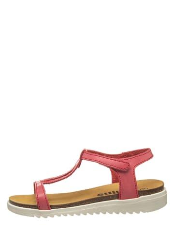 Kmins Sandały w kolorze czerwonym