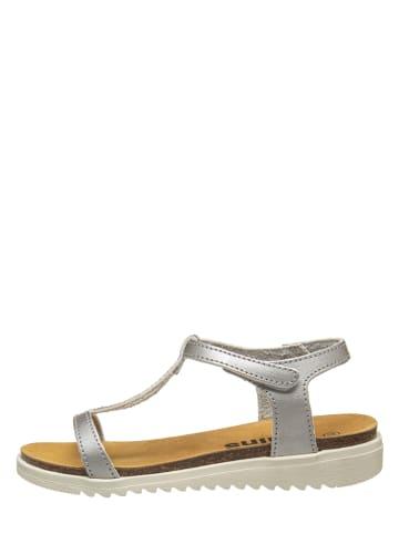 Kmins Leder-Sandalen in Silber