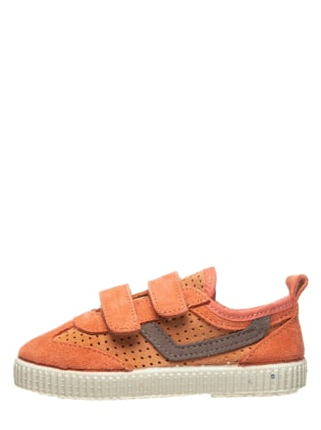 Kmins Leder-Sneakers in Orange