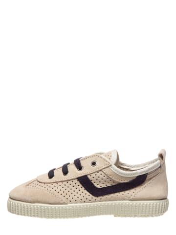 Kmins Leder-Sneakers in Beige
