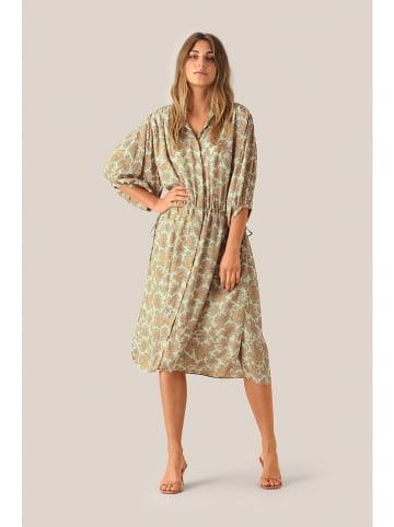 "SECOND FEMALE Kleid ""Mulle"" in Mint/ Gelb"