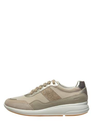 """Geox Sneakers """"Ophira"""" beige/goudkleurig"""