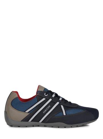 """Geox Leren sneakers """"Ravex"""" donkerblauw"""