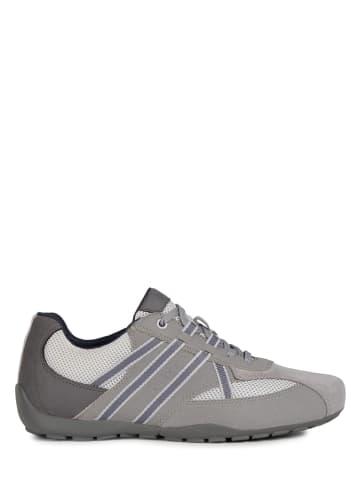 """Geox Leren sneakers """"Ravex"""" grijs"""