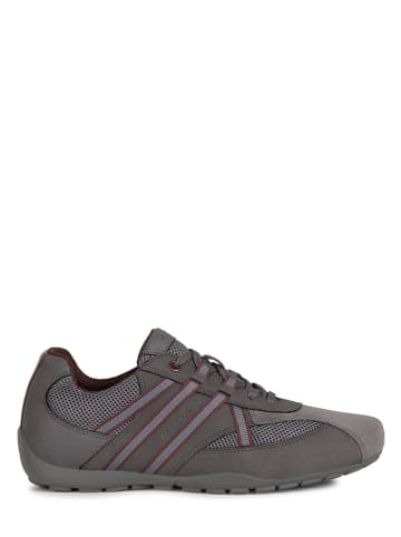 """Geox Leren sneakers """"Ravex"""" antraciet"""