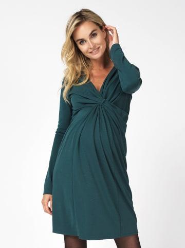 Noppies Sukienka ciążowa w kolorze ciemnozielonym