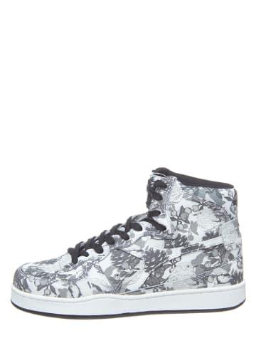 Diadora Skórzane sneakersy w kolorze szarym