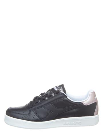 """Diadora Leder-Sneakers """"B.Elite"""" in Schwarz"""