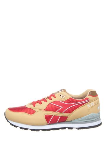 """Diadora Sneakers """"N-92 II"""" beige/rood"""