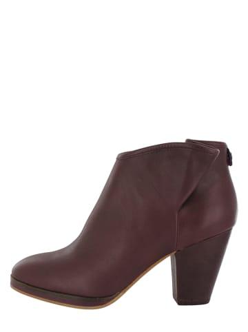 "Flip Flop Leder-Ankle-Boots ""Tango"" in Braun"