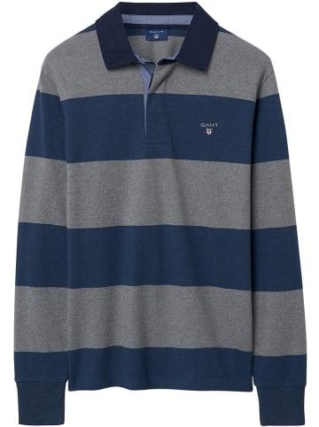 Gant Poloshirt grijs/donkerblauw