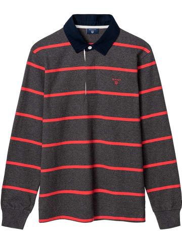 Gant Koszulka polo w kolorze antracytowo-czerwonym