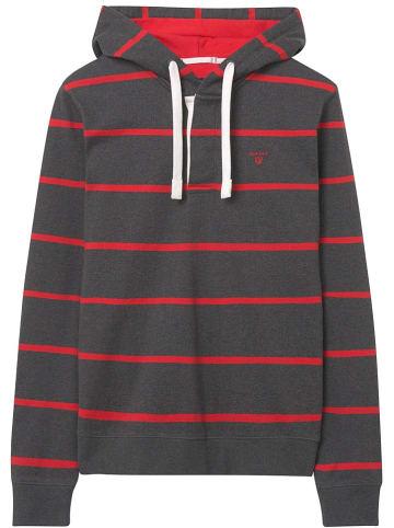 Gant Sweatshirt antraciet/rood
