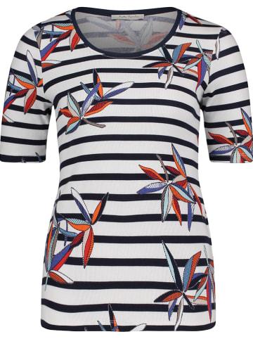 Betty Barclay Shirt in Dunkelblau/ Weiß