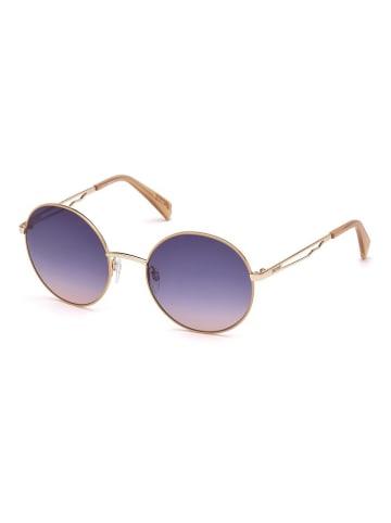 Just Cavalli Damen-Sonnenbrille in Gold/ Dunkelblau