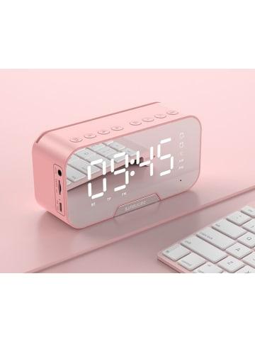 SWEET ACCESS Budzik w kolorze różowozłotym z głośnikiem Bluetooth