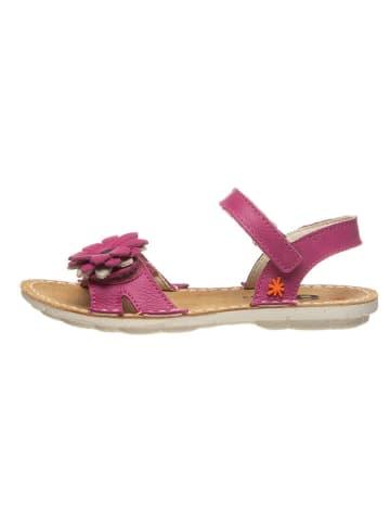 Art Kids Leder-Sandalen in Rosa