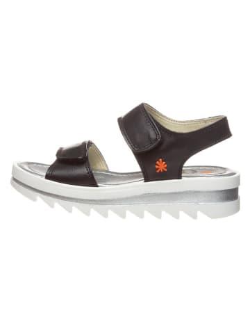 Art Kids Skórzane sandały w kolorze czarnym