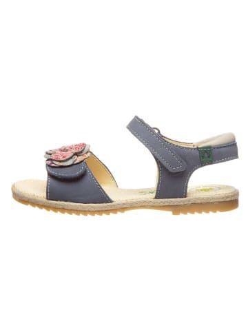 El Naturalista Leren sandalen blauw