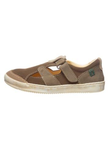 El Naturalista Leder-Sneakers in Beige/ Grau
