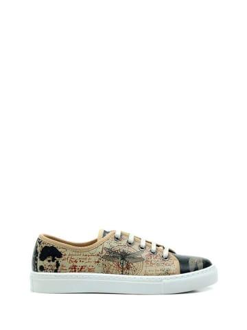 Goby Sneakersy w kolorze beżowym ze wzorem