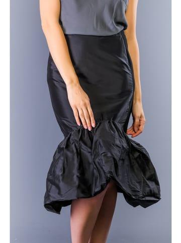 TWIN SET Jedwabna spódnica w kolorze czarnym