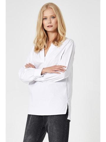 SCUI Bluzka w kolorze białym