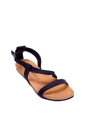 Comfortfusse Leren sandalen zwart