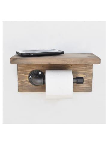 """Evila Uchwyt """"Boruraf170"""" w kolorze brązowym na papier toaletowy - 40 x 14 x 12 cm"""