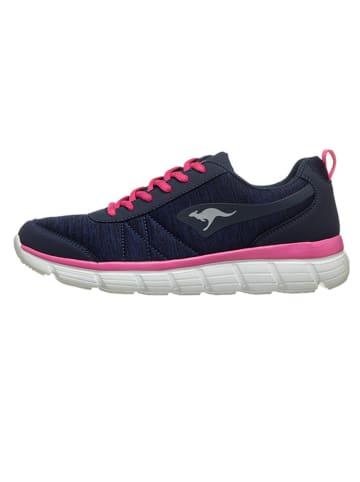 """Kangaroos Sneakersy """"KR-REF"""" w kolorze granatowo-różowym"""