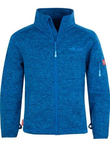 """Trollkids Fleece vest """"Jondalen"""" blauw"""