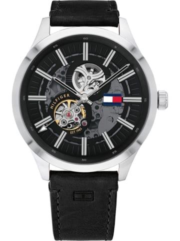 """Tommy Hilfiger Zegarek automatyczny """"Spencer"""" w kolorze czarno-srebrnym"""