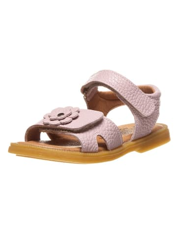 Lamino Leren sandalen lichtroze
