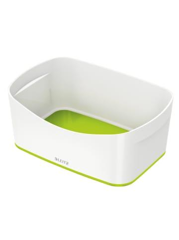 """Leitz Pojemnik """"MyBox"""" w kolorze biało-zielonym - 24,6 x 9,8 x 16 cm"""