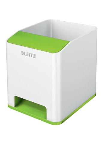 """Leitz Pojemnik """"Wow"""" w kolorze biało-zielonym na przybory - 9 x 10 x 10,1 cm"""