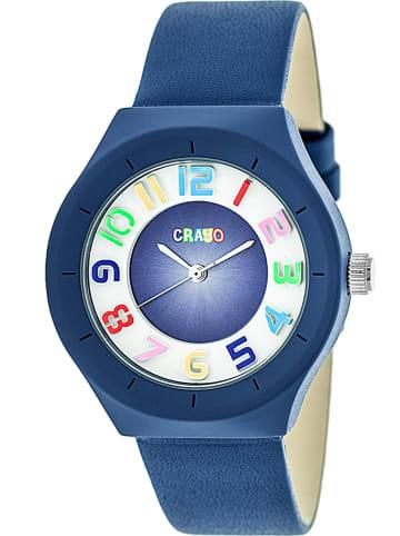 """Crayo Zegarek kwarcowy """"Atomic"""" w kolorze niebiesko-biaym"""