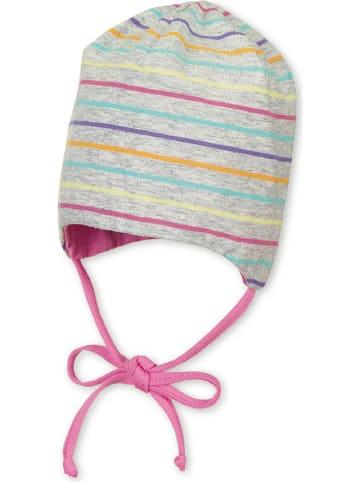 Sterntaler Dwustronna czapka w kolorze szaro-jasnoróżowym