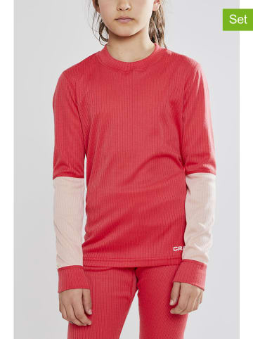"""Craft 2tlg. Funktionswäscheset """"Baselayer"""" in Rot/ Lachs"""