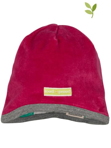 Loud + proud Dwustronna czapka w kolorze zielono-kremowo-czerwonym